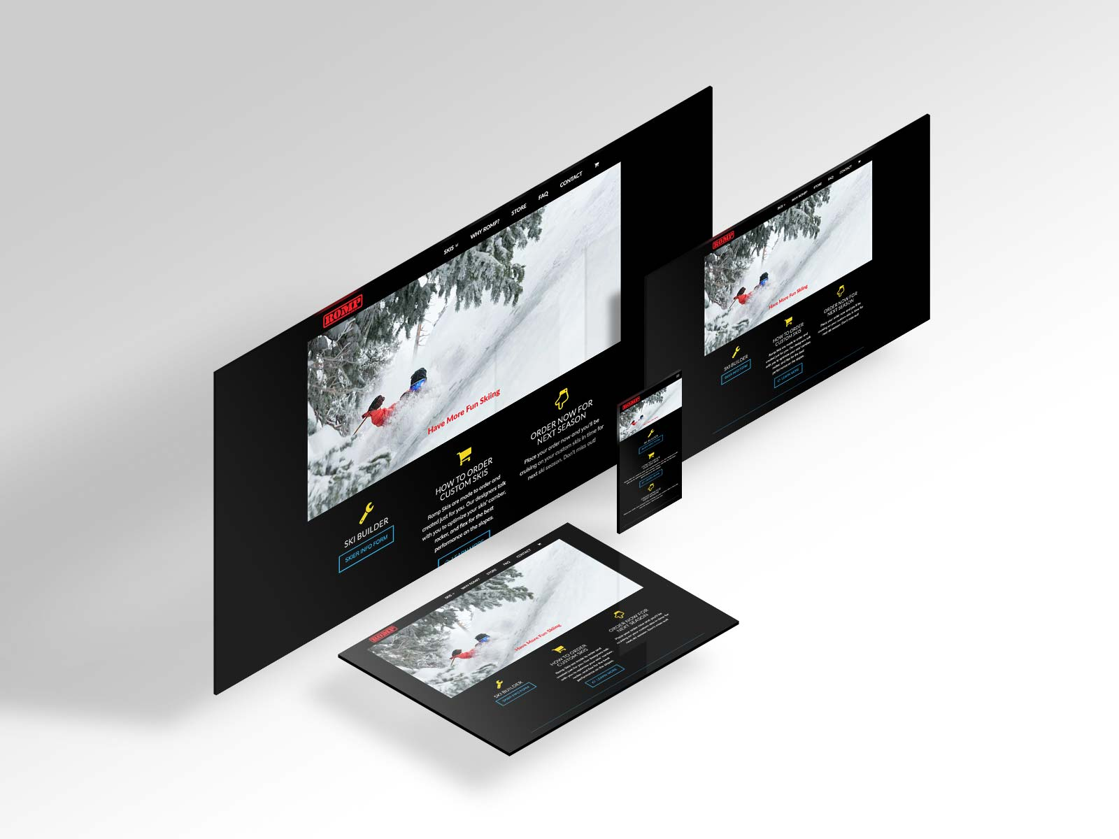Romp Skis Website