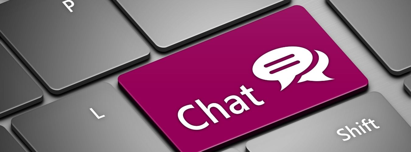"""Featured image for """"The chat button and why you should (not) add it to your website"""""""